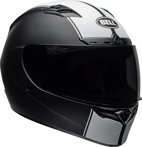 Bell Qualifier DLX MIPS Full-Face Motorcycle Helmet (Rally Matte Black/white, Large)