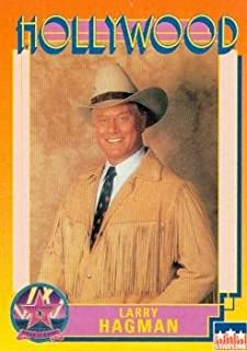 Larry Hagman trading card (JR Ewing Dallas) 1991 Hollywood Walk of Fame #50