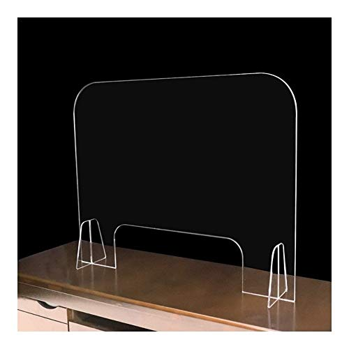 Sneeze Guards Plexiglass Shields Retail Barriers 48' High X 32' Wide Sturdy Plexiglass Shield Premium 0.2Inch Thick Sneeze Guard Panel for Desk, Counter and Table