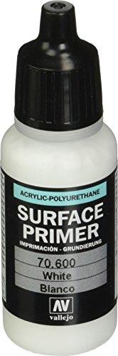 Vallejo- Surface Primer poliuretanico da 17 ml, Colore Bianco, 70600