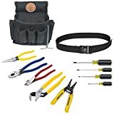 Klein Tools 92911 Tool Kit, Apprentice Tool Set with 4 Pliers, Wire Stripper and Cutter, 4 Screwdrivers, Tool Belt and Tool Pouch