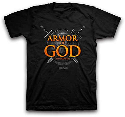 Armor of God Christian T-Shirt,Black,XX-Large