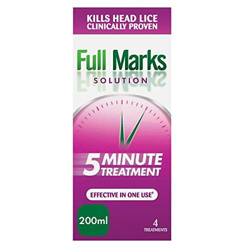 Full Marks hoofd luizenoplossing, 4 behandelingen, 200 ml