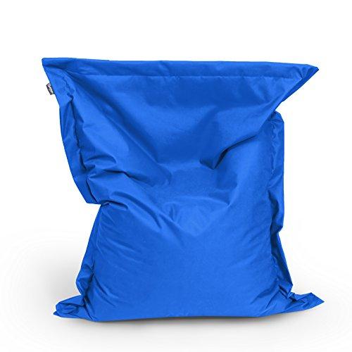 Sitzsack Beanbag rechteckige Bodenkissen 145x100cm 23 Farben Indoor Outdoor Sitzsäcke mit Füllung Riesensitzsack Kindergarten Sitzkissen Schule Bean Bag ca.340L(Blau)