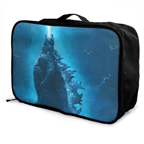 Monster Travel Lage - Bolsa de viaje para maleta, impermeable, grande, ligera, portátil