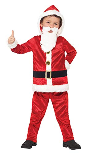 Smiffy's-Costume da Babbo Natale Jolly 21812S Costume da bambina, taglia: s