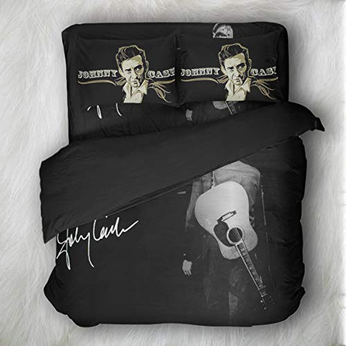 Earendel The Beatles Michael Jackson Elvis Presley Johnny Cash Bedding Set Music Duvet Cover Rock And Roll Star Bed Sets Single Double Queen King Quilt Covers Pillowcase Sheets 2/3/4 Pcs For Bedroom