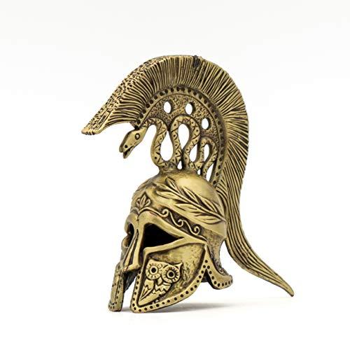 Handmade Bronze Greek Athenian Helmet 3.5' Tall