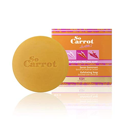 Fair & White So Carrot Exfoliating Soap, 200g / 7oz - Bar Soap for Face and Body, Exfoliate & Nourish Skin, Brightening Treatment for Dark Spots and Hyperpigmentation, with Carrot Oil