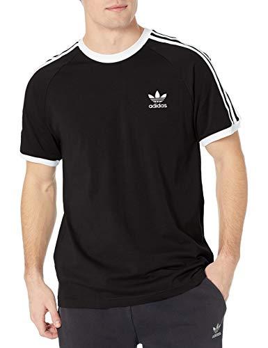 adidas Originals 3-Stripes tee Camisa, Negro, S para Hombre