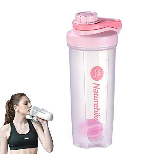 700ML eiwitpoeder Shaker Flessen Shake Mengen Roeren Blender Smoothie Cup BPA-vrij Lekvrij Gym Sport Bidon 24oz nieuw, Roze