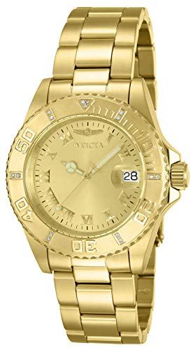 Invicta 12820 Pro Diver Reloj Unisex acero inoxidable Cuarzo Esfera oro