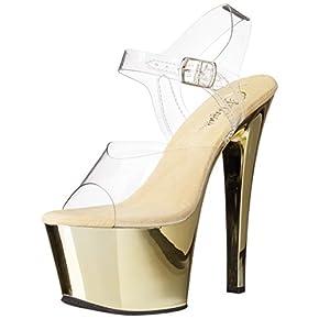 Pleaser Women's SKY308/C/GCH Platform Dress Sandal