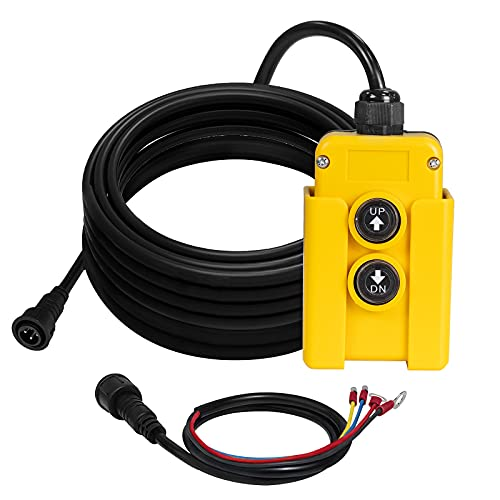 4 Wire Dump Trailer Remote Control Switch 12V DC fits Hydraulic Pump Power Supply Unit Pack Double Acting Dump Trailer Fit for Lift Unloading
