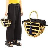 Tassel Hollow Bamboo Tote, bolso hecho a mano, para mujeres Party Girls Travel
