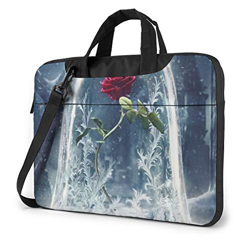 Beauty Beast Laptop Sleeve Case Handheld One Shoulder Shockproof Oxford Protective Case/Notebook Computer Pocket Case/Tablet Briefcase Carrying Bag Compatible-15.6 Inch
