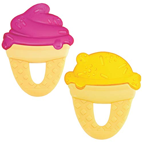 Chicco Beißring Eis, gefüllt mit sterilem Wasser (farblich sortiert)