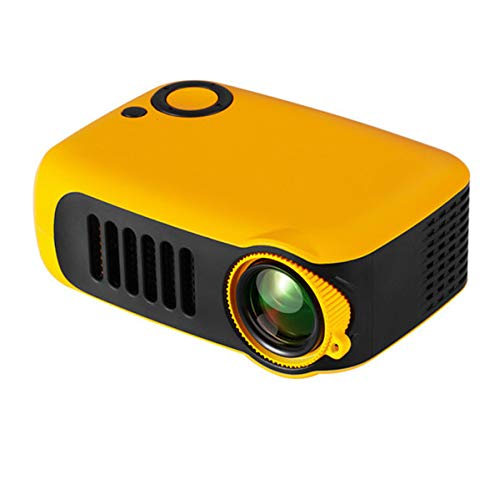 HD-Projector, Mini Video Projector Met Afstandsbediening, Home Theatre-Systeem Media Player, LED Micro Movie Projector Ondersteuning Power Bank, HDMI, USB En SD,Orange