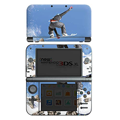 DeinDesign Skin kompatibel mit Nintendo New 3DS XL Aufkleber Sticker Folie Snowboard Sprung Wintersport