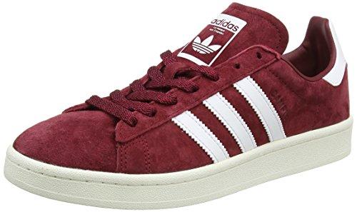 adidas Campus, Scarpe da Ginnastica Basse Uomo, Rosso (Collegiate Burgundy/Footwear Chalk White), 44 2/3 EU