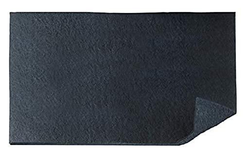 WENKO Aktivkohle Geruchsfilter - Filter für Dunstabzugshauben gegen Küchengerüche, Polyester, 57 x 47 cm, Schwarz
