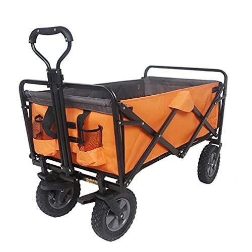 Z-SEAT Carro Plegable Plegable para jardín al Aire Libre, Carro de Playa para Trabajo Pesado con Ruedas Todo Terreno, Asas Ajustables y Tela Doble para Compras, Picnic, CAM