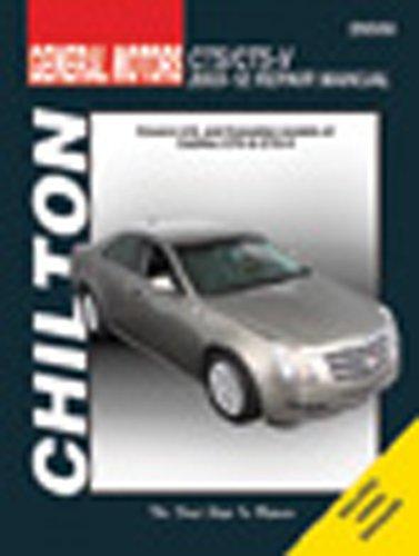 chilton total car care cadillac cts \u0026 cts v 2003 2012 repair manual