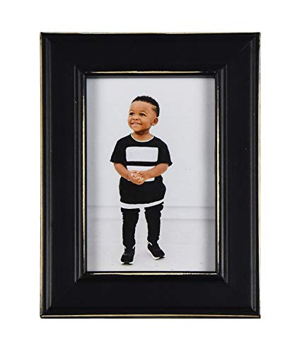 Fetco Home Dcor Longwood Rustic Black 5x7 Picture frame Fetco Home Décor F464657