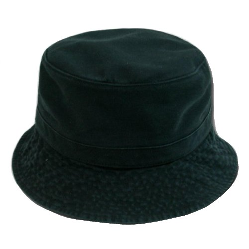 Decky Cotton Bucket Hat - Black Small / Medium