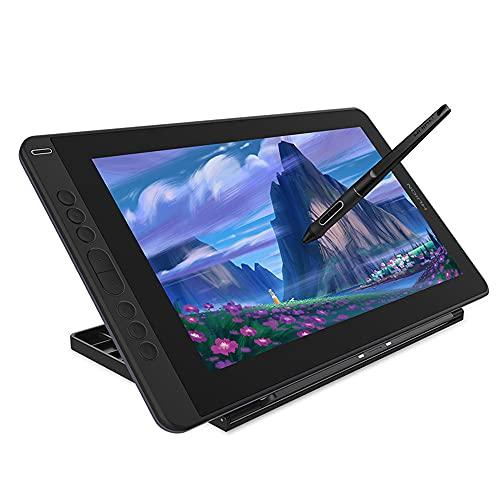 Xyfw Tableta De Dibujo Gráfico con Soporte Soporte De Inclinación Monitor De Pantalla Interactivo Sin Batería con Teclas Express Y Barra Táctil