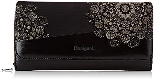 Desigual Damen Wallet 2tones Maria Geldbörse, Schwarz (Negro), 9.5x3x20.2 cm
