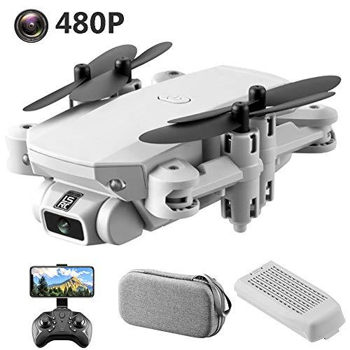 SBUNA RC Pequeno Drones Acrobatico 2.4G WiFi Drone con Cámara 480P Vídeo en Vivo, Ultraligero y Portátil Drones GPS Follow me, Quadrocopter de Selfie de Control de Gestos, Gimbal 4 Ejes