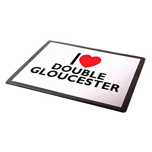 Mauspad – I Love Double Gloucester – Geschenk für Lebensmittel und Getränke
