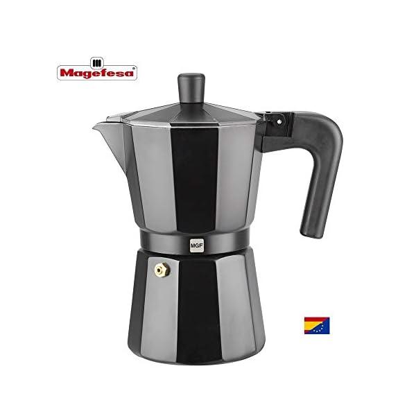 M MAGEFESA – Cafetera Modelo Kenia de Aluminio Grueso (3 Tazas)