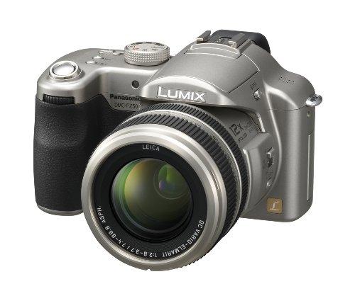 Panasonic Lumix DMC-FZ50 EG S Digitalkamera (10 Megapixel, 12-fach opt. Zoom, 5,1 cm (2 Zoll) Display, Bildstabilisator) silber