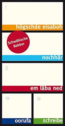 Schwäbische Bäbber - Box mit Haftnotizzetteln in schwäbischem Dialekt - Schwaben Notes