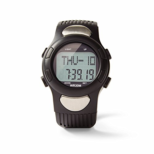 Medline Heart Rate Watch with Pulse Detection and Pedometer