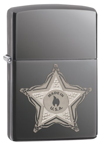Zippo Skull Badge Pocket Lighter