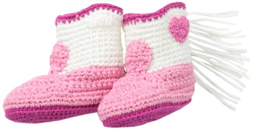 Jefferies Socks Baby-Girls Newborn Cowboy Boot Bootie, Pink, Newborn