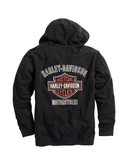 Harley-Davidson Men's Bar & Shield Logo Hoodie - 99003-16VM (2X-Large) Black