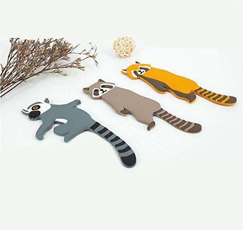 Gancho de animal de dibujos animados, el brazo del gancho de animal infantil se puede doblar libremente y se puede pegar en cualquier lugar que desee. El ganchopuede decorar cualquier habitación (C)
