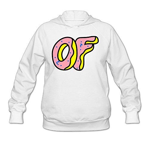 Women's Odd Future Donut Logo Hoodie White XL