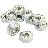 DollaTek 10 piezas 608ZZ doble Metal Shields rodamientos rígidos de bolas 8x22x7mm