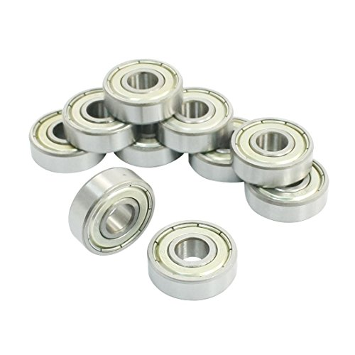 DollaTek 10 piezas 608ZZ doble Metal Shields rodamientos rí