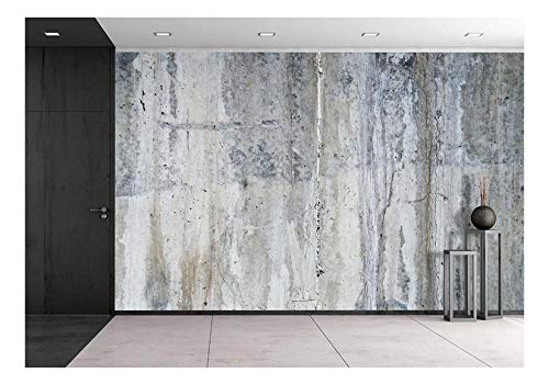 wall26 - Grunge Concrete Wall - Removable Wall Mural | Self-Adhesive Large Wallpaper - 100x144 inches
