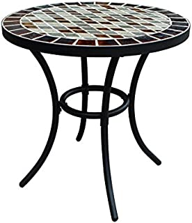 Garden Treasures Pelham Bay 20-in W x 20-in L Round Steel Bistro Table