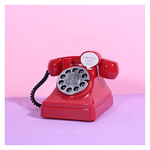 YINGNBH Hucha Teléfono Retro Bank Plastic Gift Creative For Kids Home Sala de Estar Vino Gabinete Adornos Decorativos Artesanía (Color : Red)