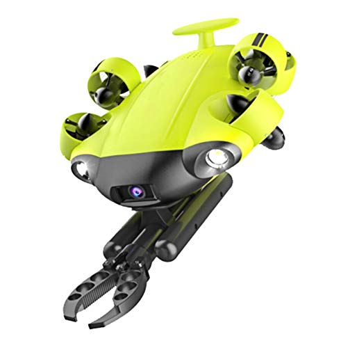 HEN'GMF Underwater Drone with 4K UHD Camera, 100m Line with Cable Reel. (Contains Robotic Arm and Toolbox)