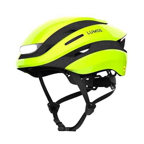 Lumos Ultra Smart-Helm | Fahrradhelm | Vorder- und Rücklicht (LED) | Blinker | Bremslichter | Bluetooth-Verbindung | Erwachsene: Herren, Damen (Electric Lime, Größe: M-L)