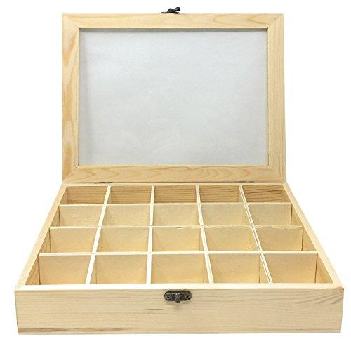 C1 Todo menaje-Caja Madera 20 Compartimentos